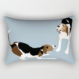 Coonhound Play Rectangular Pillow