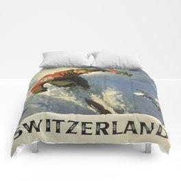 Vintage poster - Switzerland Comforters