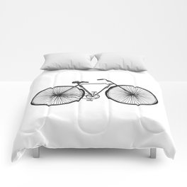 Hand Drawn Doodle Style Bicycle Comforters