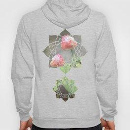 Asiatic Flowers in Pale Pink Hoody