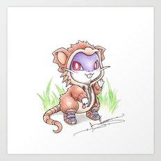 Rat-ical Rodent Art Print