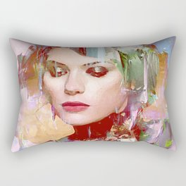 Vengeance of a betrayed woman Rectangular Pillow