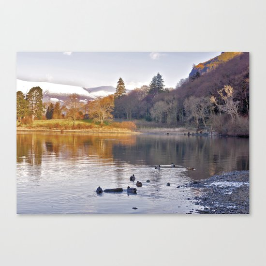By the Lakeside - Derwent Water Canvas Print
