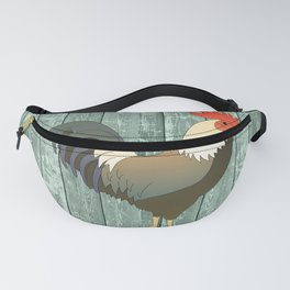ROOSTER ON SEAFOAM Fanny Pack