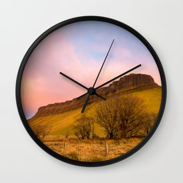 Benbulben Sunset Wall Clock