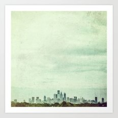 Sapphire City Art Print