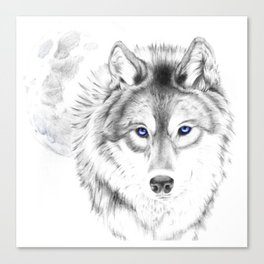 WOLF WHITE Canvas Print