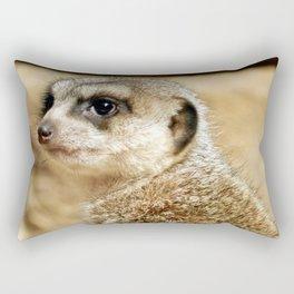 Meerkat (Omaha's Henry Doorly Zoo) Rectangular Pillow