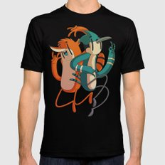 Mordecai & Rigby // Regular Show Mens Fitted Tee LARGE Black