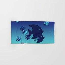 Nine Blue Fish with Patterns Hand & Bath Towel