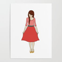 red dress Poster