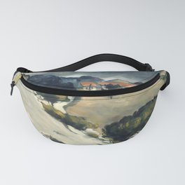 "Paul Cezanne ""Melting Snow At L'Estaque"" Fanny Pack"