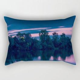 Dredging lake in Baden-Wurttemberg Rectangular Pillow
