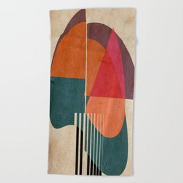 in the autumn Beach Towel