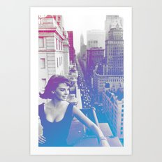 Natalie Wood Cityscape Art Print