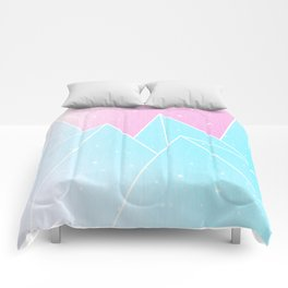 Sparkly Blue Crystals Design Comforters
