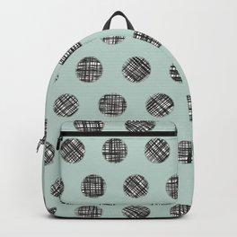 Hatched Circles in Aqua Backpack