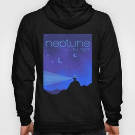 NEPTUNE Space Tourism Travel Poster Hoody