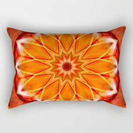 Mandala bitter orange Rectangular Pillow