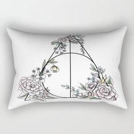 Deathly Hallows - floral Rectangular Pillow