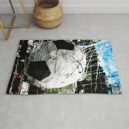 Modern soccer ball art vs 8 Rug