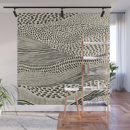 Hand Drawn Patterned Abstract II Wall Mural