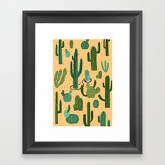 The Snake, The Cactus and The Desert Framed Art Print