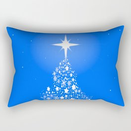 Star Spangled Snowflake Christmas Tree Rectangular Pillow