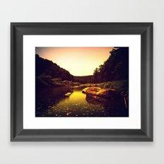 Let the Creek Take You Away Framed Art Print