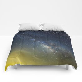 Milky Way bokeh Comforters