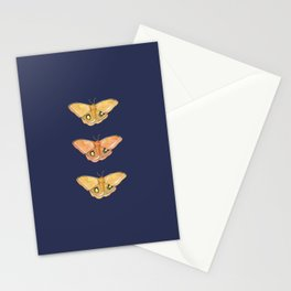 Luna Moth Yellow Navy Stationery Cards