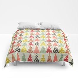 Whimsical Christmas Trees Comforters