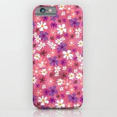 Retro Pink Flowers iPhone 6s Slim Case