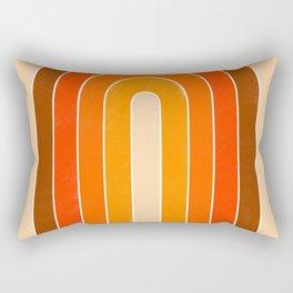 orange retro u stripes Rectangular Pillow