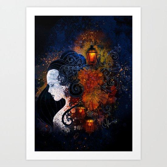 Lisbon Lights Art Print