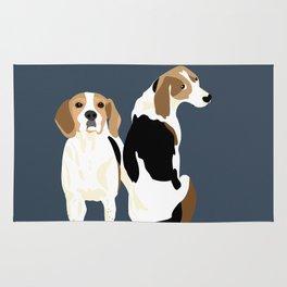 Gracie and Greta tree walker coonhounds Rug