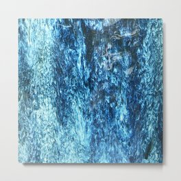 Blue Turquoise Rain Falling Inside My Heart Metal Print