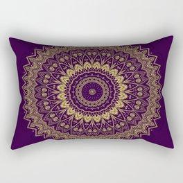 Harmony Circle of Gold on Purple Rectangular Pillow