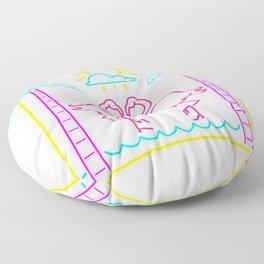 Flamingo Beach Floor Pillow