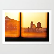 Fire Outside The Window Art Print