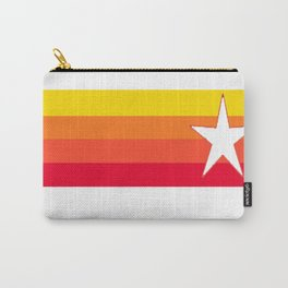 Houston Astros Baseball Throwback Stripes Vintage Carry-All Pouch