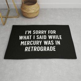 Sorry for Mercury Retrograde Rug