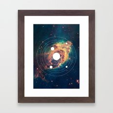 Solar System Near Nebula Framed Art Print