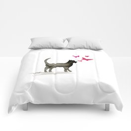 I Love Cats No. 3a by Kathy Morton Stanion Comforters