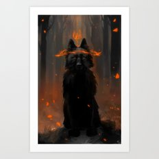 Crowned Wolf Art Print