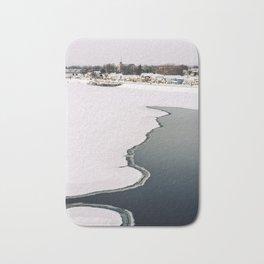 Frozen Ottawa River Bath Mat