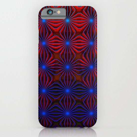 Complexities in Blue and Red iPhone & iPod Case