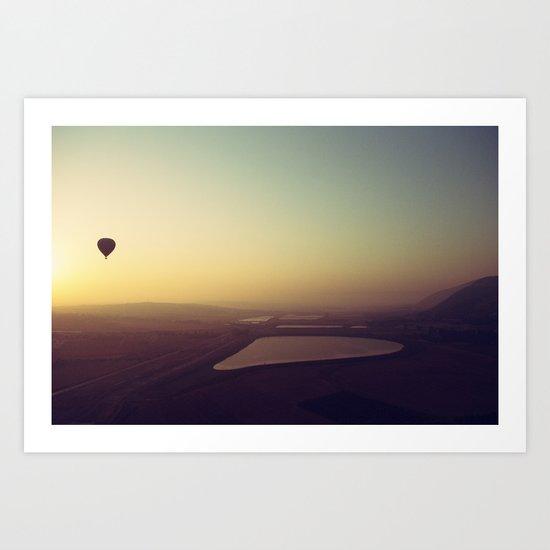 Balloon Sunrise Art Print