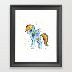 Rainbow Dash MLP Pony Framed Art Print