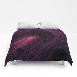 Pink Galaxy Watercolour Pattern Comforters